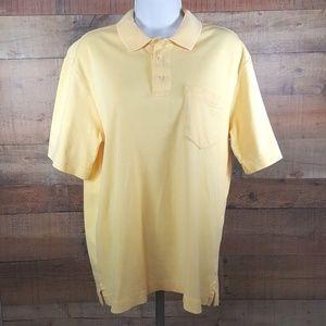 Land's End Polo Shirt Mens Size Medium 38-40 Yello